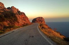 And I looked down one as far as I could (Irwin Scott) Tags: manipeninsula greece peloponnese mountain rock sea asphalt brush sunsetlight travel lumiaphotography
