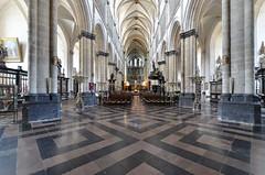 Saint-Omer (Pas-de-Calais) - Cathédrale Notre-Dame - Nef (Morio60) Tags: saintomer pasdecalais 62 cathédrale notredame