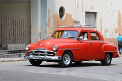 Facing the Past (emerge13) Tags: centrohabanacuba cuba vintagecars plymouth1951 lahabana voituresanciennes classiccars street rue red rouge geotagged spiritofphotography