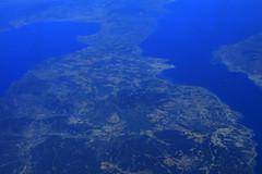 Border Greece - Turkey seen from 10 km above (davidvankeulen) Tags: europe europa griekenland greece turkije turkey border grens grenze davidvankeulen davidvankeulennl davidcvankeulen urbandc