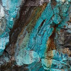 Seam (Danae Sheehan) Tags: rock antarctic colour pattern nature light detail square geology turquoise malachite green