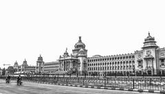 Vidhana Southa, Bangalore (Ramalakshmi Rajan) Tags: blackandwhite bw blackwhite architecture bangalore karnataka india nikond5000 nikon nikkor18140mm