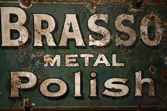 Brasso Sign (Robert A Scott) Tags: brasso polish metal sign advert corrosion rust weathered old