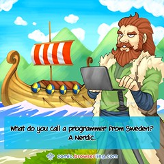 Nordic - Webcomic about web developers, programmers and browsers (browserling) Tags: cartoon comic webcomic joke browser browserling crossbrowsertesting webdeveloper webdesigner webprogrammer sweden nerd nordic nerdic viking ship laptop programmer mountains water webdev developer designer geek internet web cartoons comics webcomics jokes browsers webdevelopers webdesigners webprogrammers webdevelopment developers development designers programmers geeks nerds internets webs webjoke internetjoke