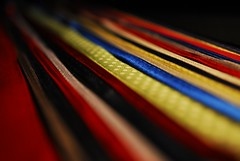 Follow the ribbons... (Lenaprof) Tags: 7daysofshooting week42 leadinglines macromonday smileonsaturday lines stripes linesandstripes