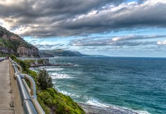 Serenity spotted from the Sea Cliff Bridge (Rakuli) Tags: ifttt 500px sky water clouds ocean waves road bridge afternoon headlands