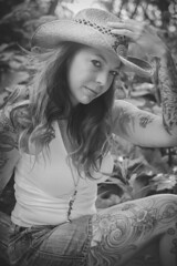 Black & White Cowgirl (Keltron - Thanks for 10M Views!) Tags: select joelene cowgirl modeling cowboyhat girlswithtattoos tattoo tattoos alaskangirls anchoragegirls girlinacowboyhat