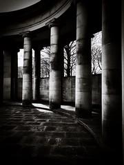 Stone pillars (I line photography) Tags: greenheadpark stone stonepillars coloum blackandwhite cenotaph