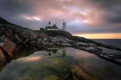 Phare Ouest (Ludovic Lagadec) Tags: finistere phare lighthouse morning sunrise reflets bretagne breizh brittany oceanscape atlantique longexposure ludoviclagadec