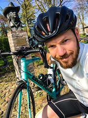 Drenthe - Friesland - Groningen ride April 8 2017, 176km (Klaas / KJGuch.com) Tags: cycling ciclismo wielrennen roadbike roadbikes bike bicycle bianchi bianchisemprepro netherland nederland outandabout spring aprilrides cyclinginapril cyclingphotos cyclingphotography justdoit buste harrymuskee cubytheblizzards blues blueslegend