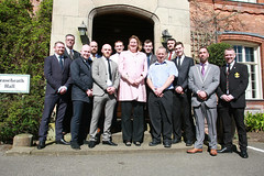 """1st grads with Antoinette Sandbach MP and Andy Gould • <a style=""""font-size:0.8em;"""" href=""""http://www.flickr.com/photos/146127368@N06/33953114575/"""" target=""""_blank"""">View on Flickr</a>"""