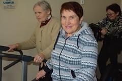 Support for seniors center in Mariupol (unhcr_ukraine) Tags: seniors eld elderly mariupol donetskregion idps qip displaced sports