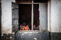 I see you, mzungu! (Dan Fleury Photos) Tags: hope future wall window children boys travel education school uganda africa mzungu