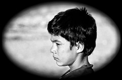 Sadness comes young (Pejasar) Tags: sadness guadelupe hogarparaniños mexico rancho3m cemetery profile portrait boy orphan luis