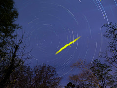 Lightning bug Astro (csuper) Tags: astrophotography night nightscape astro star stars startrails ozarks arkansas trees spring milkyway