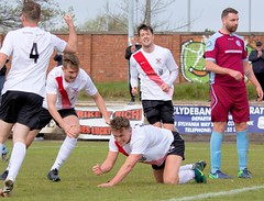 Delight on the face of Alan Frizzell after doubling Bankies lead (Stevie Doogan) Tags: clydebank cumbernauld utd mcbookiecom west scotland league superleague first division holm park saturday 15th april 2017 bankies scottish juniors