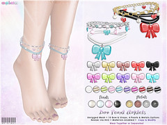 [ bubble ] Bow Pearl Anklets Set (::: insanya ::: & [ bubble ]) Tags: secondlife bubble originalmesh accessories anklets bows pearls mesh hud exclusive theseasonsstory