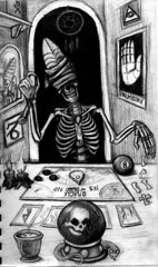 soothsayer (ashley russell 676) Tags: soothsayer high priest smoke mirrors palmistry tarot cards ouija board mysticism mystic prophet dreamcather sorcery fortune teller casting bones skeleton blind fold magic eight ball 8 candles all seeing eye zodiac capricorn