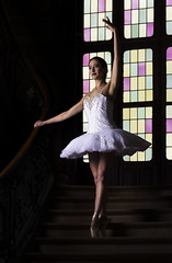 She's dancing her sadness away. (25/52) (sylvievienne) Tags: model portrait photography photoshoot makeup dancer dancing ballet ballerina tutu pointes
