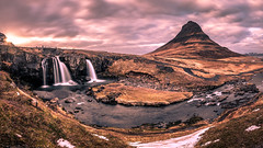 Sunset in Kirkjufell - Iceland - Travel photography (Giuseppe Milo (www.pixael.com)) Tags: iceland landscape sunset travel nature water kirkjufell sky sun river mountain waterfall clouds is onsale