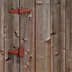 knots and hinges (msdonnalee) Tags: gate knottypine woodengate wood hinge rustyhinge texture