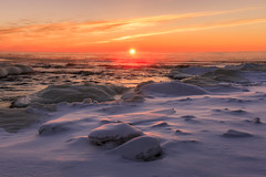 Lake Superior Sunrise (Kevin Pihlaja) Tags: keweenaw upperpeninsula michigan lakesuperior sunrise snow ice morning tobaccoriver landscape nature greatlakes cold frigid river winter