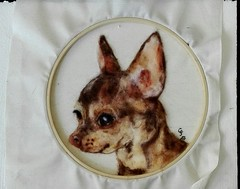 My Aira (Needle Feltings by - Dexihexi Pouch Puppies) Tags: chihuahua mydog woolpainting needlefelting woolcraft wool dexihexipouchpuppies petportrait pets felteddog