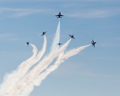 The Boys Are Back In Town-2 (4myrrh1) Tags: thunderbirds military flying flight flightdemonstrationsquadron flightdemonstrationteam airforce aircraft airplane aviation airshow airplanes airport afb f16s al alabama maxwell 2017 canon 6d ef70300l