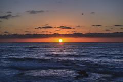 Right on the horizon (kim.joyi92) Tags: sunset horizon sun ocean sky clouds