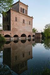 Idrovora del XVI secolo - Santa Giustina (amogiulietta) Tags: delta po river afternoon building reflections reflected sunset landscape architecture