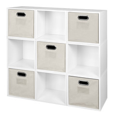 PC9PKWH_HTOTENT (RegencyOfficeFurniture) Tags: niche regency cubo cubestorage modularstorage modular connecting connectable adaptable custom customizable cube square storageset closet organizer organization furniture cubes expandable home melamine laminate woodtone white whitewoodgrain pc9pk pc1211wh beige offwhite htotent beigebins beigestorage beigetotes