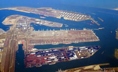 That is a lot of containers down there. (oobwoodman) Tags: aerial aerien luftaufnahme luftphoto luftbild netherlands nederland holland paysbas northsea nordsee merdunord noordzee rotterdam maasvlakte containers containerterminal gvaams