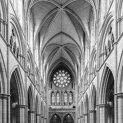 Cathedral Symmetry (frank_w_aus_l) Tags: england britain cornwall truro cathedral architecture bw sw monochrome symmetry arches nikon d810 bnw blackandwhite vereinigteskönigreich gb noiretblanc church