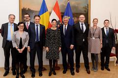 Generalsekretär Linhart trifft Ministerin für europ. Angelegenheiten von Rumänien Ana Birchall