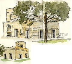 Old building in school yard near the Hilton Garden Hotel, Lecce, 16th April 2017