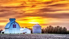 Iowa Sunset (Justin Loyd Photography) Tags: sunset iowa farm canon6d 24105l barn barnyard rural country orange glow glowing photography flickr colorful today april spring field ngc