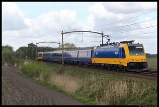 186 022 met Koninklijketrein te Hulten