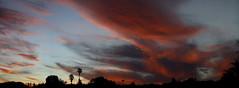 Sunset 4 13 2017 #05 Panorama e (Az Skies Photography) Tags: sun set sunset dusk twilight nightfall cloud clouds sky skyline skyscape rio rico arizona az riorico rioricoaz arizonasky arizonaskyline arizonaskyscape arizonasunset red salmon black orange canon eos rebel t2i canoneosrebelt2i eosrebelt2i april 13 2017 april132017 41317 4132017 panorama