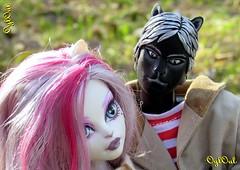 №443. White Cat, Black Cat... (OylOul) Tags: 16 action figure custom monster high doll