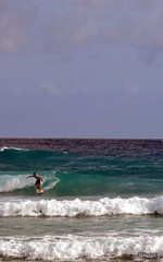 Surfer (UnfortunateSouls) Tags: blue sea beach surf surfer barbados caribbean