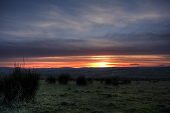 Fire Sky Sunset (Gareth Wray Photography) Tags: county blue ireland sunset red summer sky irish sun tourism monument field grass rock stone set standing circle lens landscape photography countryside site ancient nikon worship rocks angle dusk stones side country wide scenic landmark visit tourist eire national rush fox trust granite mystical hd druid colourful nikkor monuments rushes gareth hdr donegal pagan druids mythical tyrone wray beltany raphoe strabane 1024mm d5200 hdfox
