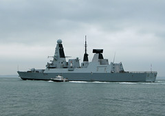 HMS Diamond D34 (Rob_Pennycook) Tags: solent portsmouth warship royalnavy type45destroyer type45 d34