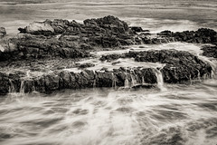 On the Rocks (FS_photos) Tags: california ca bw beach beautiful canon landscape fun outdoors blackwhite malibu american pacificcoast 28135mmis 60d leocarrillostatebeach
