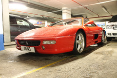 Ferrari F355 F1 GTS (michaelbham243) Tags: red london car ferrari knightsbridge expensive foc