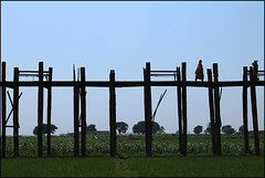On the U Bein Bridge- Amarapura, MYANMAR (Odeida Florez Photography) Tags: viaje puente myanmartravelphoto