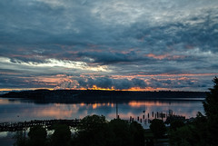 A Fleeting Spark, Tacoma [Explore] (tacoma290) Tags: clouds reflections fire bay nikon pacificnorthwest pugetsound tacoma moment fleeting drama pnw commencementbay afleetingsparktacoma