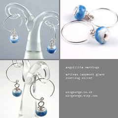 anguillita earrings (mizgeorge) Tags: uk silver handmade jewellery sterling earrings lampwork bygeorge mizgeorge