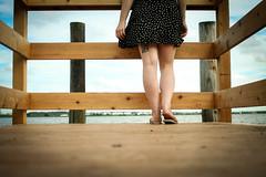 (Kristen Palatella) Tags: girl dock legs feet water bay river hudsonriver tattoo girlswithtattoos nj newjersey meadowlands ruleofthirds blue