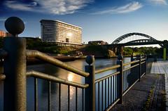 Summer evening on the Wear, Sunderland (DM Allan) Tags: wear sunderland wearside wearmouthbridge echo24
