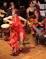 Romany Journey Colston Hall Bristol. Flamenco Dancer 1 (chrisw09) Tags: stockings smile look bristol dance spain eyes arms legs guitar tights thigh spanish thighs heat passion grin fishnets glimpse knee excitement gypsy revealing enjoyment flamenco exciting smrt passionate blackshoes colstonhall greatfun samburns gypsystars blinkagain gurtlushchoir stmaryredcliffeandtempleschool redspottydress romanyjourney